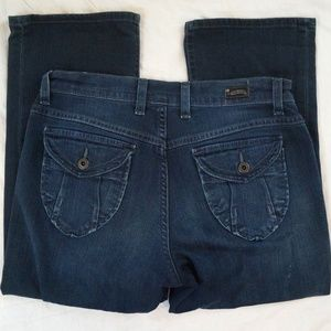 Lucky Brand Easy Rider Crop Dark Wash Womens Jeans